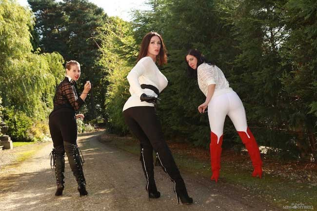 Strict mistress Miss Hybrid thigh boots